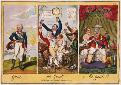 Gent-No Gent-Regent-George Cruikshank